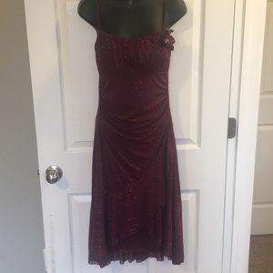 Maroon glitter dress